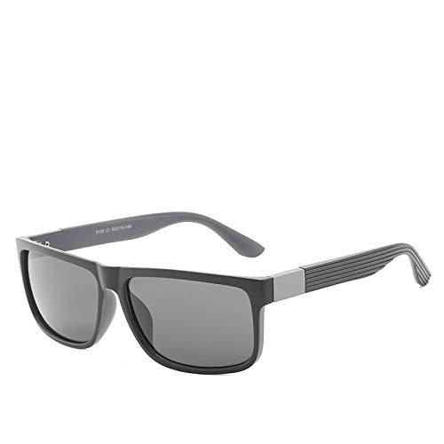 LKVNHP Oversized Herren Sonnenbrille Polarized Driving Sonnenbrille Für Mann 152Mm Schwarz Braun Anti Reflection Uv400 HerrenbrilleSchwarz Grau