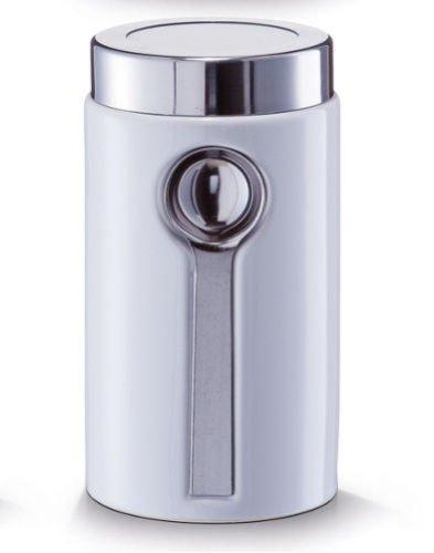 zeller-19800-ceramic-coffee-flask-white-including-teaspoon-new-storage-jar-tea-flask