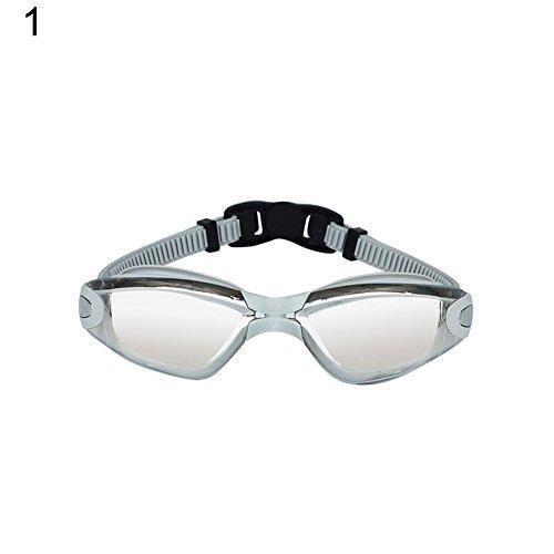 xMxDESiZ Sport Brille Wasserdicht Anti-Fog Anti-UV-Schutz Eyewear Schwimmbrille Grau