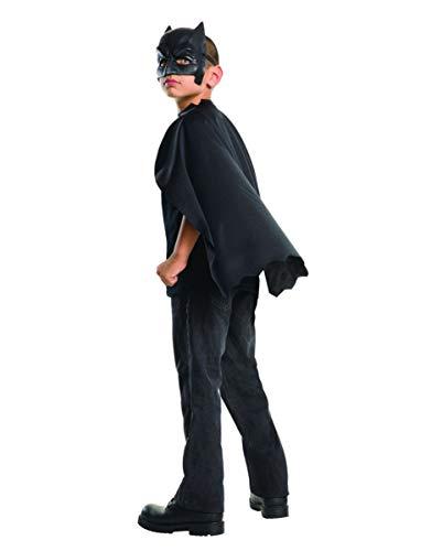 Horror-Shop Batman Umhang mit Maske für Kinder als Lizenziertes Superhelden Kostüm Set