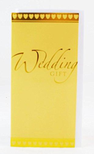 Wedding Day Money Gift Holder Voucher Cash Card Gold Heart Bride Groom Wallet