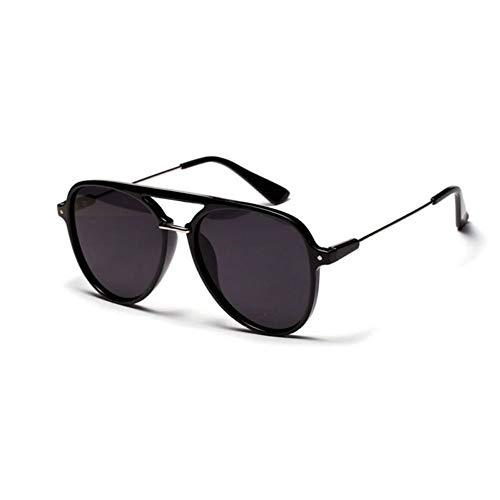 YYXXZZ Sonnenbrillen Rote Linse Aviator Sonnenbrille Frauen Männer Metall Pilot Sonnenbrille, Schwarz lila