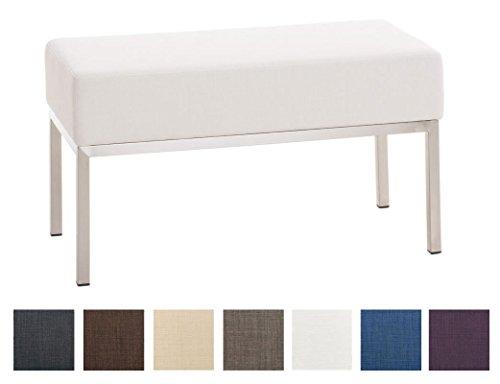 Panca Contenitore Tessuto : Clp panca a posti lamega con seduta in stoffa telaio in acciaio
