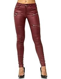 ArizonaShopping Pantaloni Donna in Pelle Ottica Treggings Skinny Leggings  Stretch Tubo D2562 64d0a03ce36