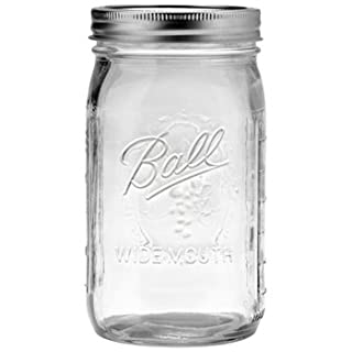 4 Pack BALL MASON Signature Preserving Jars 945ml WIDE Mouth with Recipe Insert
