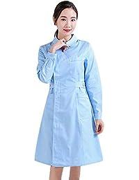 Jiyaru Bata de Laboratorio Médico Sanitaria Enfermera para Mujeres, Uniforme Médico Enfermera de Manga Larga