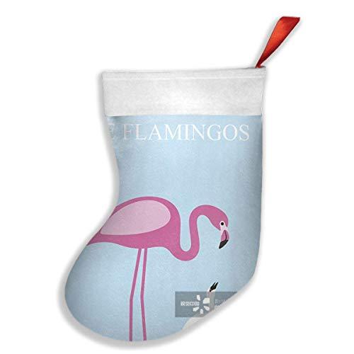 Rosa Schädel-knie-socken (QUEEKINWANG Flamingo Feed Its Baby Xmas Christmas Stockings Xmas Party Mantel Decorations Ornaments Decoration Kids Gift Holding Stocking Tree Ornament)
