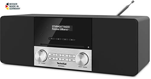 TechniSat Digitradio 3 Stereo DAB Radio - Kompaktanlage (DAB+, UKW, CD-Player, Bluetooth, USB, Kopfhöreranschluss, AUX-Eingang, Radiowecker, OLED Display, 20 Watt RMS) schwarz