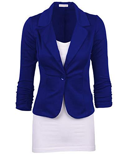 Blazer Donna Manica Lunga Colore Solido Breve Ufficio Occupazione Giacche da Abito Marina Militare XL