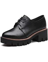 YIWU Tacones Altos 2019 El Nuevo Estilo Zapatos Femeninos Zapatos de algodón Mujer Tacón Grueso Zapatos