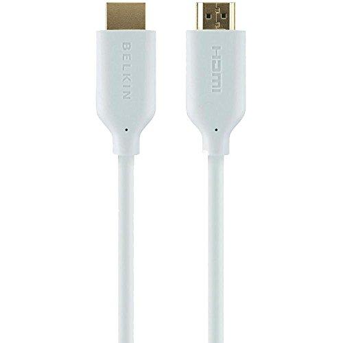 Belkin HDMI Kabel mit Ethernet und Goldkontakt, 2.0m, weiß - Hdmi-kabel Belkins