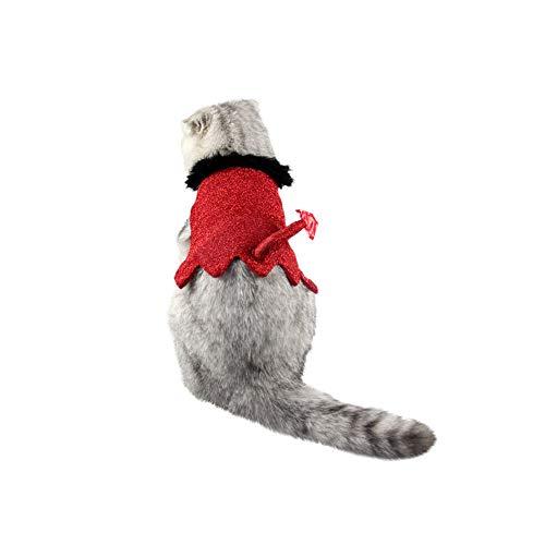 Omiky® Weihnachten Pet Outfits Mode Katze Pet Kleidung Umhang Kleine Katze Kostüm Bekleidung Mantel (Rot, M)