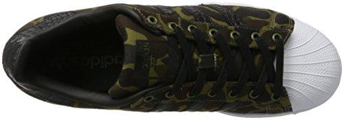 adidas Superstar, Scarpe da Ginnastica Basse Uomo Nero (Cblack/cblack/ftwwht)