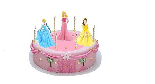 endeko Cinderella + Belle + Aurora - Bullyland - Prinzessinen Kuchendeko (Disney Belle Princess)
