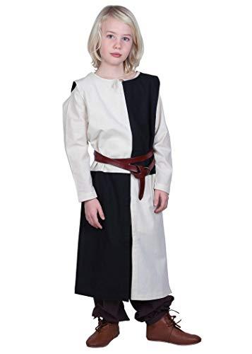 Battle-Merchant Kinder Waffenrock Lucas - Wappenrock Mittelalter Ritter LARP Kostüm (Armee Schwarzer Ritter Kostüm)