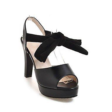 Zormey Damen Sandalen Frühling Sommer Club Slingback Schuhe D'Orsay & Amp; Zweiteilige Komfort Kunstleder Party & Amp; Abendkleid Chunky Heelbowknot US10.5 / EU42 / UK8.5 / CN43