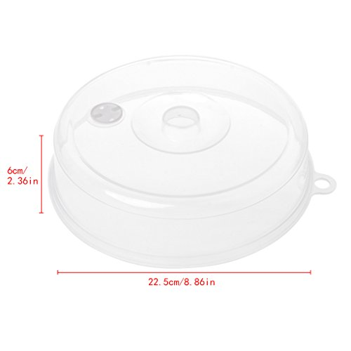 Lamdoo Kunststoff-Mikrowellen-Abdeckung, transparenter Dampfausgießer, Deckel für Lebensmittel und Küche, Polypropylen, weiß, 23x5cm (Die Kunststoff-abdeckung Für Mikrowelle)
