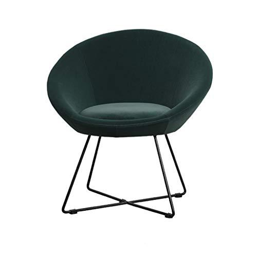 Velvet Accent Shell Sessel Elegant Dinning Chair Mid-Back Unterstützung Moderne Balkon Freizeit Gepolsterte Sofa Stuhl for Wohnzimmer Freizeit Stühle for Schlafzimmer ( Color : Green ) -