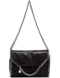 san francisco ef31f be91a Stella McCartney Borsa A Spalla Donna 557837W91321000 Poliestere Nero