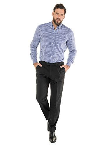 JP 1880 Herren große Größen bis 7 XL   Langarm-Shirt   Karohemd aus 100% Baumwolle   Buttondown-Kragen   Bügelfrei & Comfort Fit   blau 7XL 703646 71-7XL