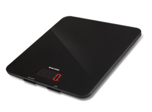 Salter Digital Kitchen Platform Weighing Scales – As Seen on The Great British Bake Off, Stylish Glass Design, Electronic Cooking Scale for Home + Kitchen, Weigh Food 5kg + Liquids in ml and fl. Oz.