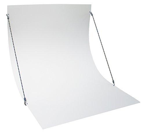 Aufstellbarer PVC-Fotohintergrund Hohlkehle Fototisch Aufnahmetisch weiß, selbstständig stehend, 70cm breit, knitterfrei und abwischbar