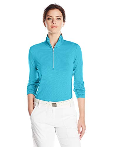 Cutter & Buck Damen Madeline Half Zip Mock Pullover Golf-T-Shirt, Riviera, Mittel -