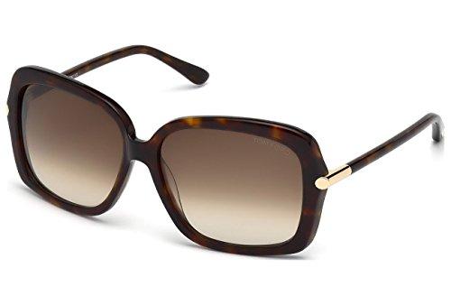 Tom Ford Für Frau 0323 Dark Tortoise / Gradient Brown Kunststoffgestell Sonnenbrillen