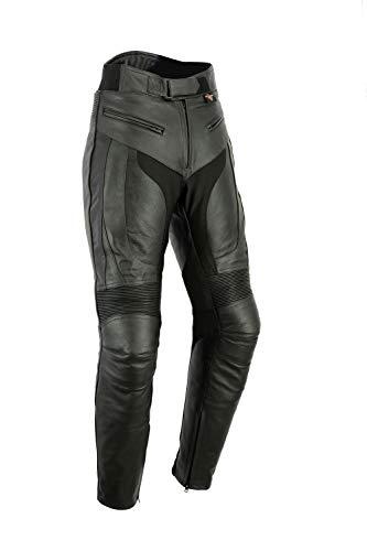 """Texpeed RS - pantaloni motociclista in pelle - uomo - protezioni rimovibili - Girovita 44"""" / 112cm - Lunghezza 32"""" / 81cm"""