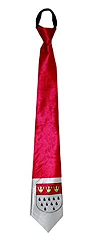 erdbeer-clown - Karneval Accessoire Krawatte, Wappen Köln, Rot (Hula Boy Kostüm)