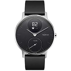 Nokia health Steel HR Reloj, Unisex Adulto, Negro, 36mm