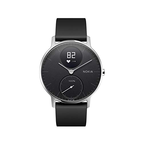 Withings Unisex Adult Steel HR-Fitnessuhr Armbanduhr, Black, 36mm, 36 mm