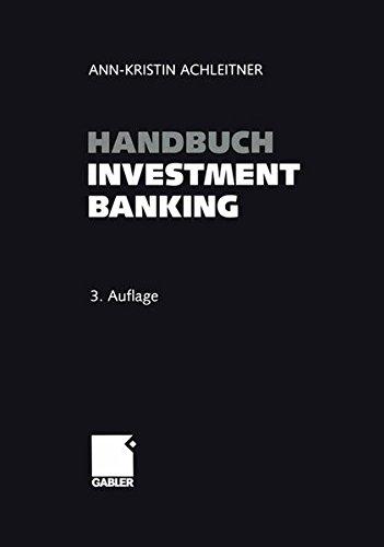Handbuch Investment Banking