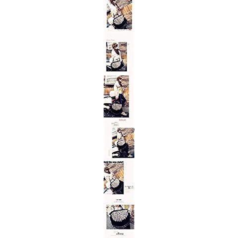 Andonger Lady Punk Tassel Leopard Print Frange spalla del Tote