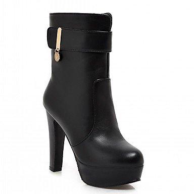 Rtry Femmes Chaussures Pu Leatherette Automne Hiver Confort Nouveauté Mode Bottes Chunky Bottes Talon Bout Rond Bottines / Bottines Boucle Pour Part & Amp; Us10.5 / Eu42 / Uk8.5 / Cn43