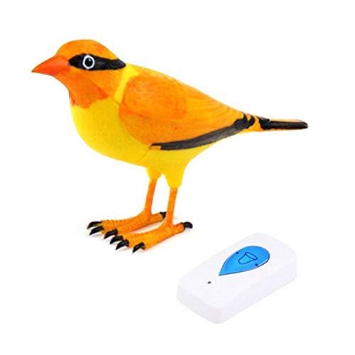 Timbre inalambrico boton SOS panico friki diseño pajaro naranja avisa