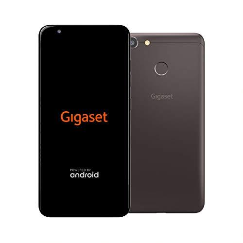 Gigaset GS280 Handy ohne Vertrag - Face ID - Fingersensor - Dual-Sim - Made in Germany (32GB Speicher, 3GB RAM, Full HD+ Display 18:9, 5,7 Zoll), 5000 mAh Akku, 4G LTE, Android 8.1) Smartphone, braun (Handy Entsperrt Sd Micro)