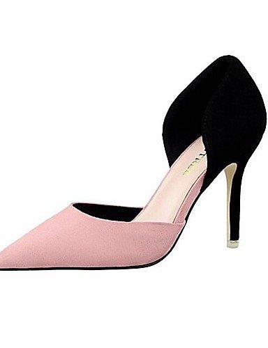 WSS 2016 Chaussures Femme-Mariage / Habillé / Soirée & Evénement-Rose / Rouge / Gris / Fuchsia-Talon Aiguille-Talons / Bout Pointu-Talons-Daim red-us6 / eu36 / uk4 / cn36