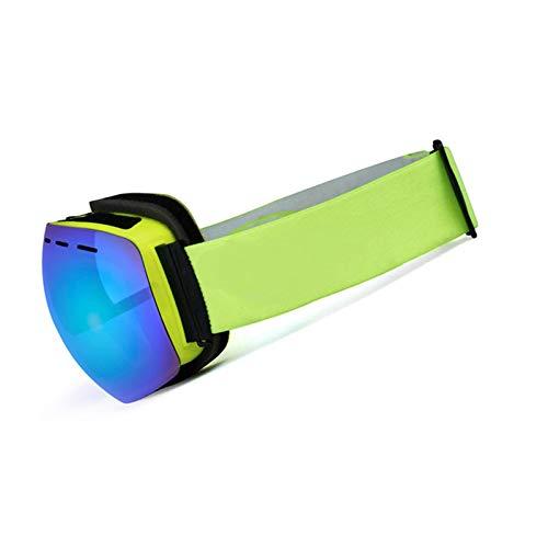 Sportsonnenbrille Retro Damen Herren Doppel Anti Fog Skibrille Für Erwachsene Im Freien Beschlagfrei Und Winddicht Blau Gelb