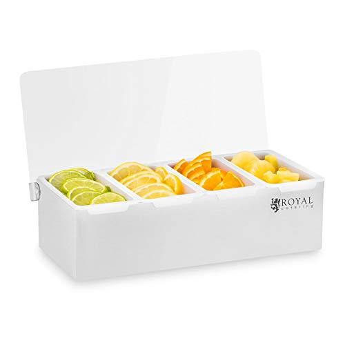 Royal Catering Zutatenbehälter Edelstahl und Plastik