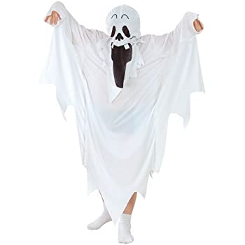 childrens boys girls ghost costume for halloween fancy dress size m age 5 7