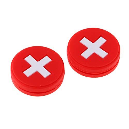 MagiDeal Gummi Vibrationsdämpfer für Tennisschläger 2er Pack - - Tennisschläger Gummi