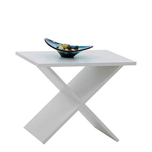 13casa - stark c5 - tavolino. dim: 54,5x38,5x43 h cm. col: bianco. mat: nobilitato.