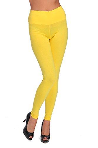 Leggins amarillo de Tiro Alto - para mujer - Varias tallas