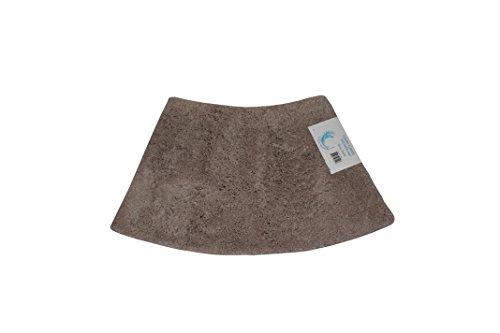 Cazsplash Viertelkreis Mini gebogen Dusche Matte, Baumwolle, Stein, 42x 26x 5cm (Gebogene Boden Dusche Matte)
