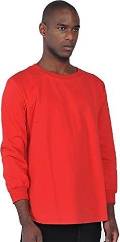 Pizoff Unisex Hip Hop urban basic Langärmliges lang geschnittener Jersey Sweat T-shirt mit abgerundeter Saum (Hip Hop Mode Sonnenbrillen)