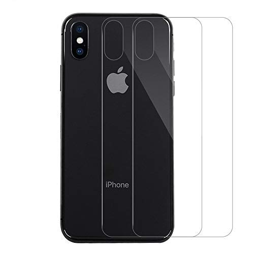 QULLOO Compatible with Panzerglas iPhone X/iPhone XS 5.8 inch Panzerglas rückseite Back Screen Protector Glass Vollabdeckung Singularity Produkte Zurück Film Screen Protector für iPhone X/XS - 2 Pack