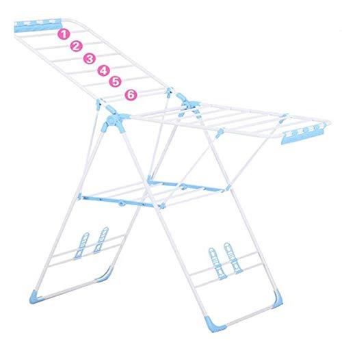 Preisvergleich Produktbild Zuhause Drinnen Und Draußen Wäscheständer,  Ausziehbar,  Aus Stahl, Trockenständer (138cm, Blue)