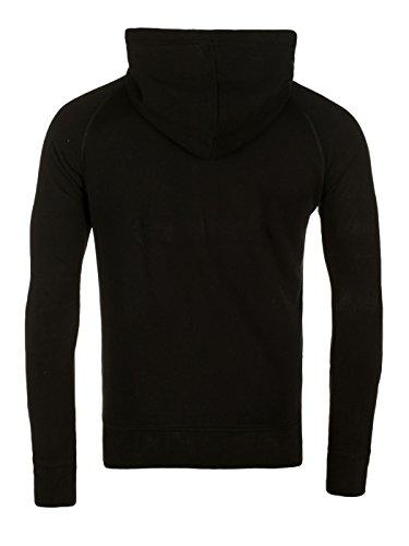 Yazubi Herren Sweatjacke Jacob - Kapuzenjacke Zip-Hoodie - Männer Kapuzenpullover aus hochwertiger Baumwollmischung Schwarz (Black 194008)
