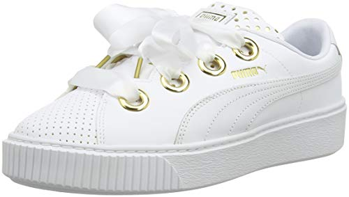Puma Damen Platform KISS ATH LUX WN's Sneaker, Weiß White 01, 37.5 EU -